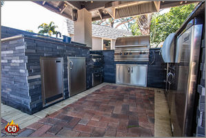 Custom Outdoor Kitchens Concrete Construction By Cookin