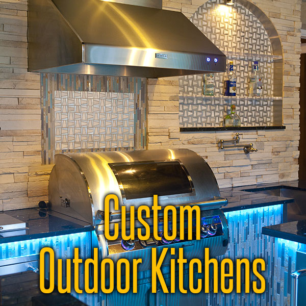 Custom Outdoor Kitchens And Firepits From Cookin' Outdoors